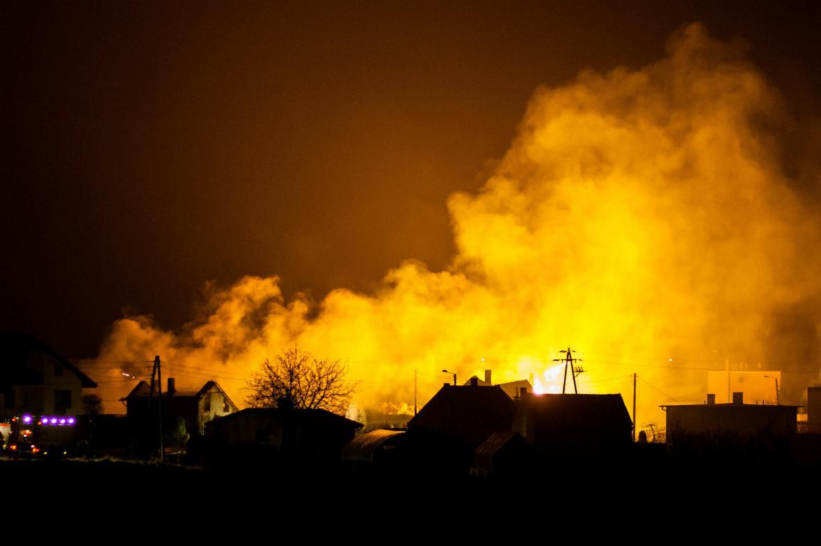 Výbuch plynu v Polsku