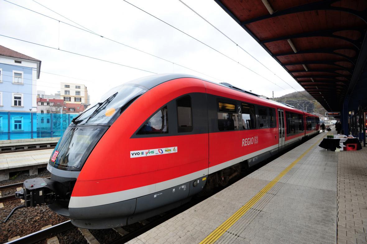 Vlak do Německa