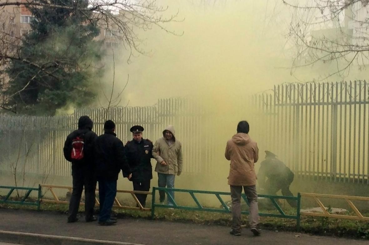 Symbolické napadení polské ambasády