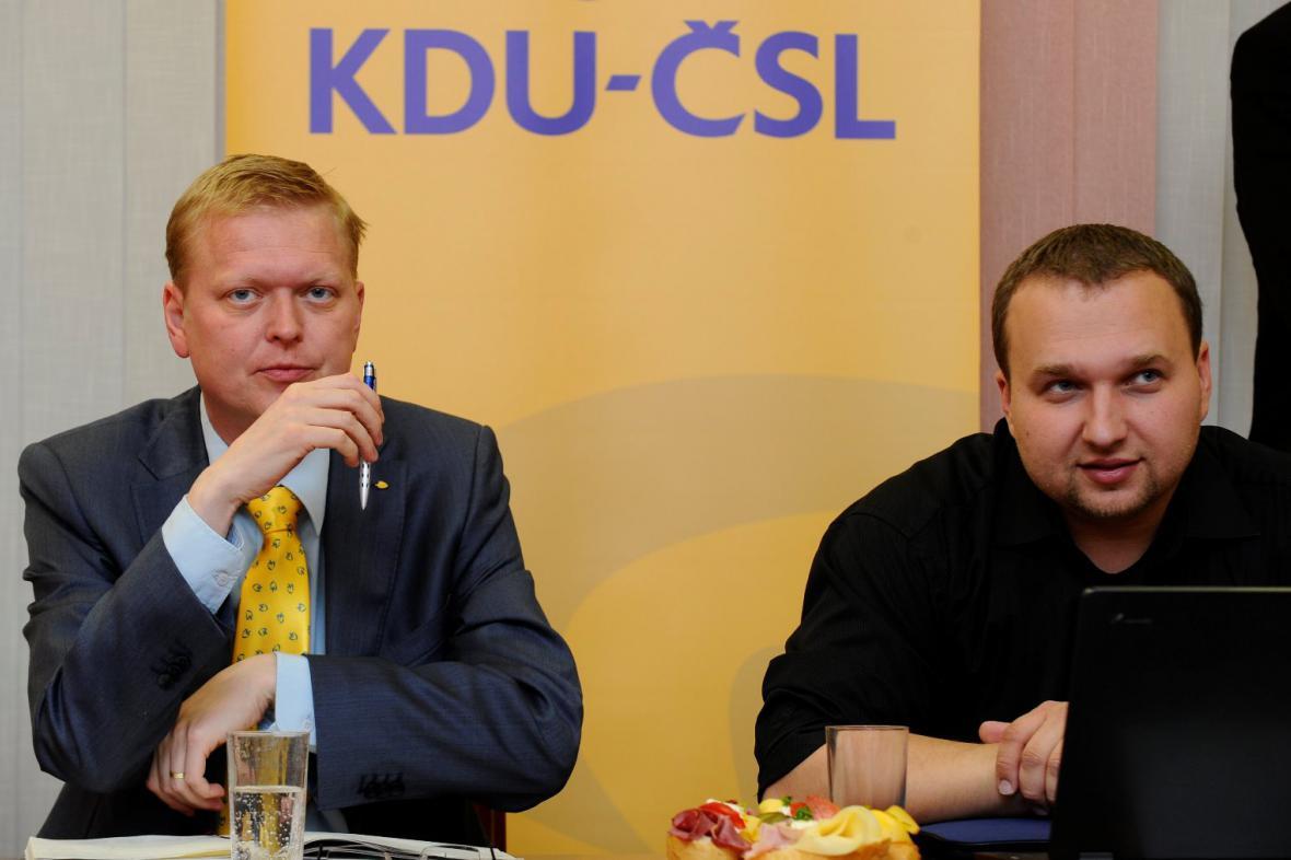 Pavel Bělobrádek a Marian Jurečka