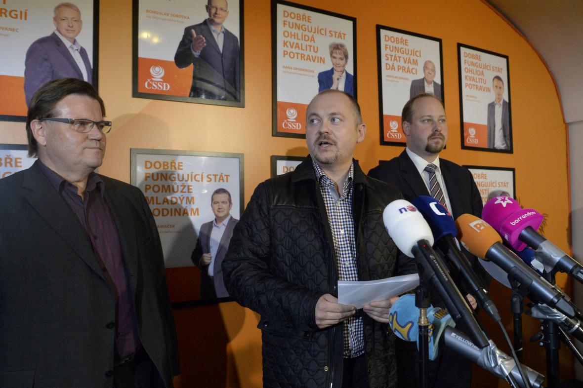 Zdeněk Škromach, Michal Hašek a Jeroným Tejc