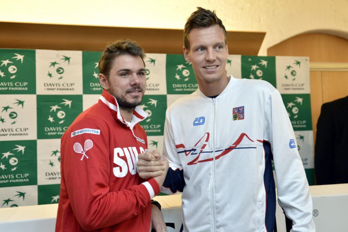 Stanislas Wawrinka s Tomášem Berdychem