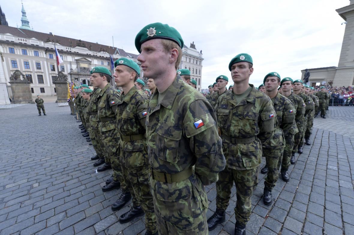 Vojáci v Olomouci