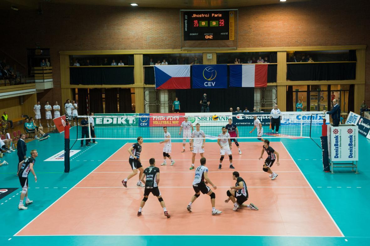 Utkání Jihostroj České Budějovice - Paris Volley