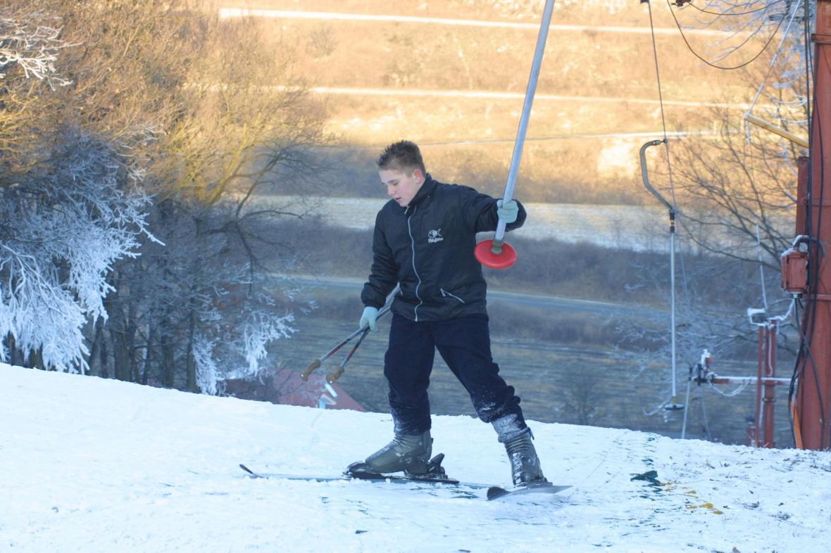V Němčičkách se lyžuje mezi vinohrady