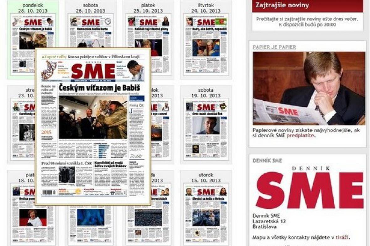 SME reaguje na předčasné volby v Česku