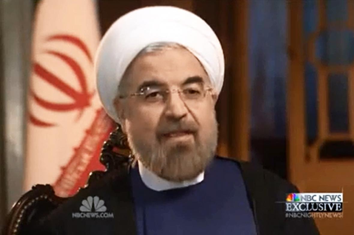 Hasan Rúhání v rozhovoru pro NBC