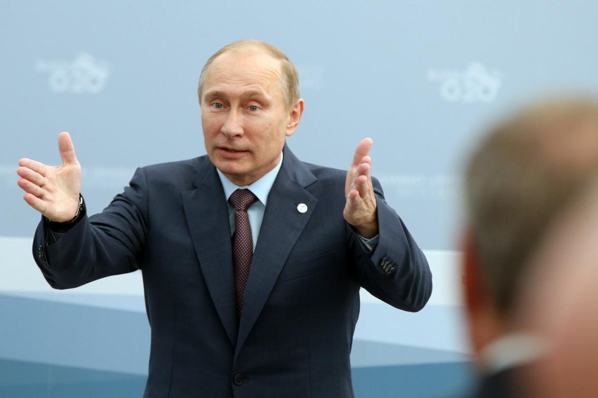 Vladimir Putin během petrohradského summitu G20