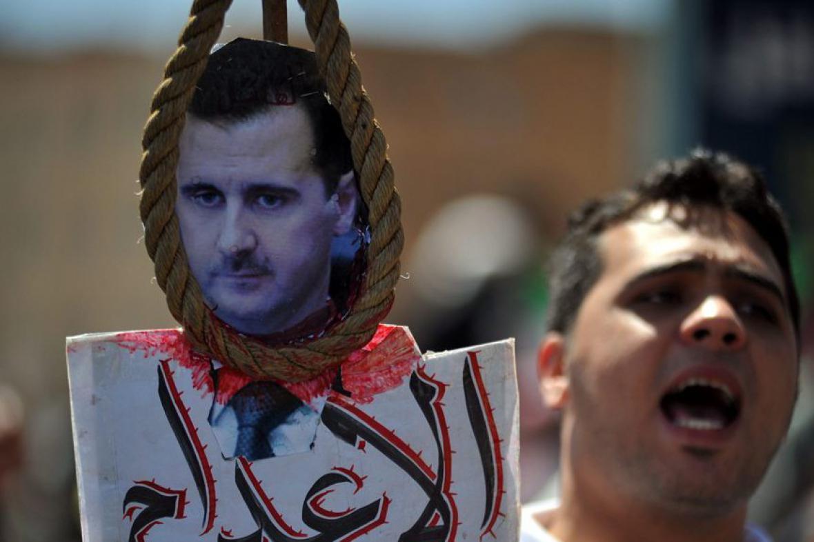 Demonstrace proti prezidentovi Bašáru Asadovi