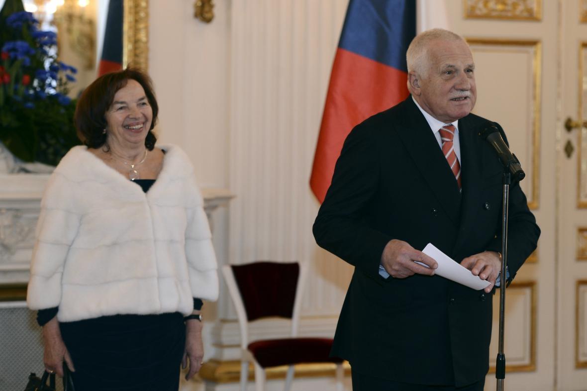 Livie Klausová a Václav Klaus