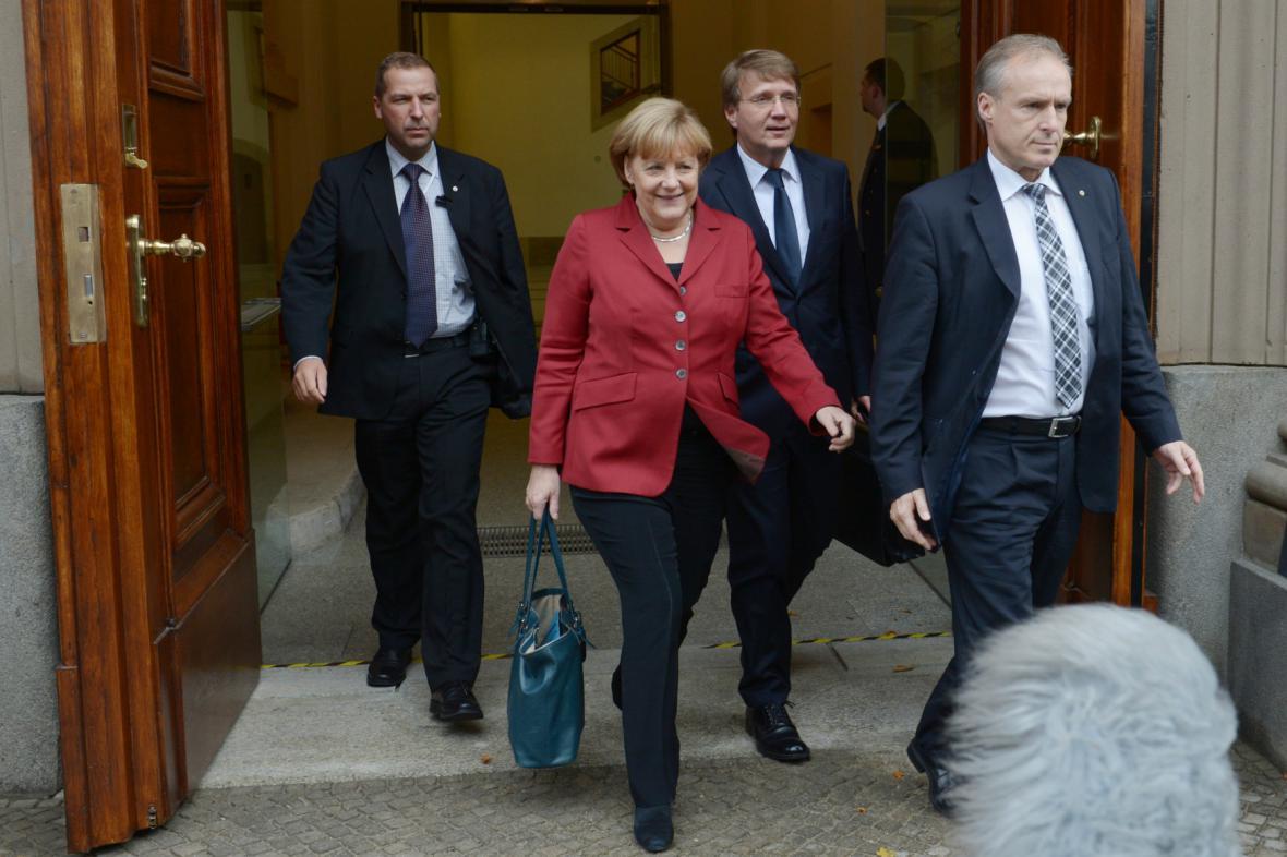 Angela Merkelová je spokojena - koalice s SPD se rýsuje