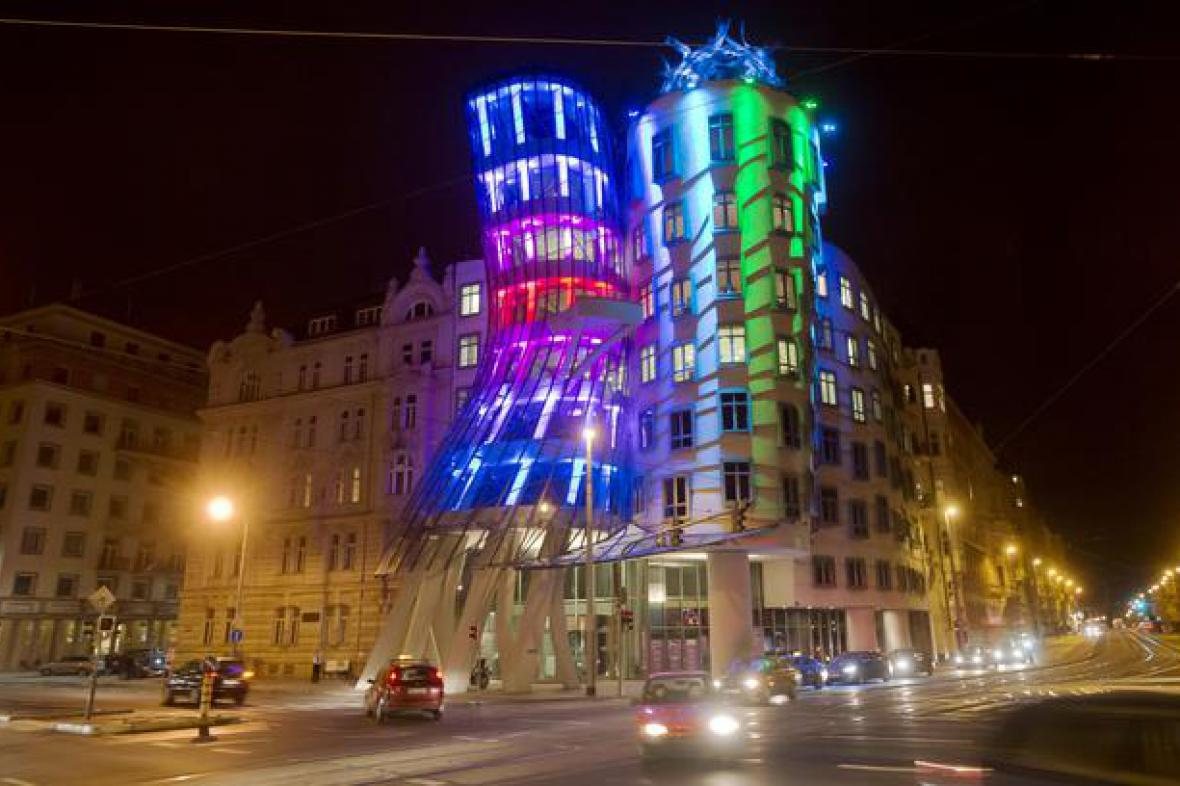 Pražský festival světla Signal / Tančíčí dům