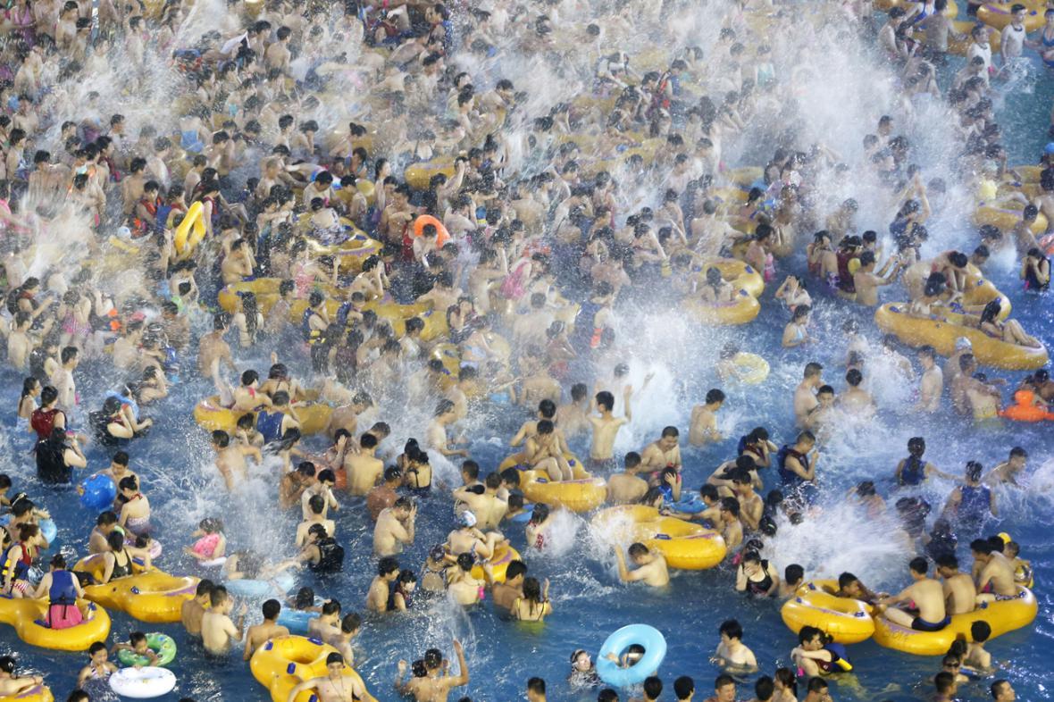 Vodní park v čínském Wu-chanu