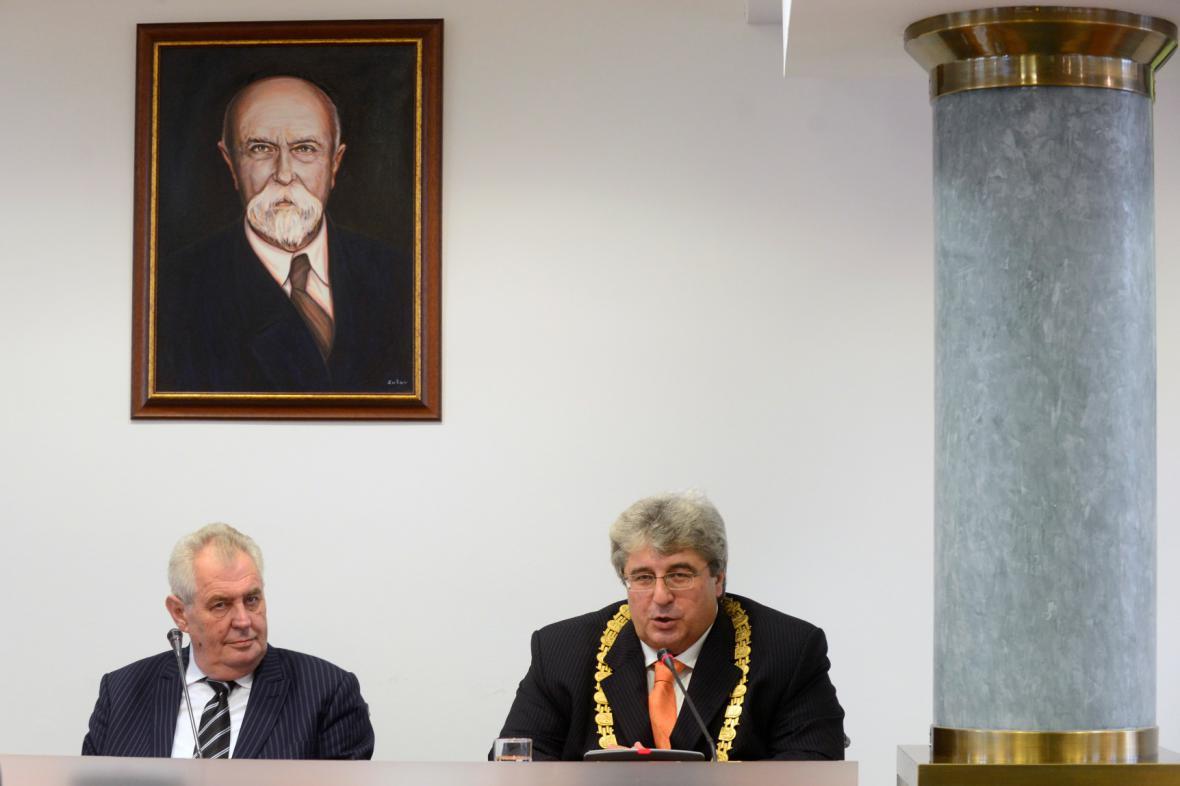 Miloš Zeman s Josefem Řihákem