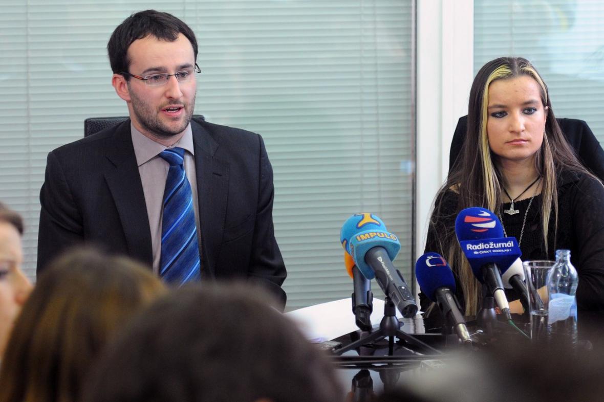 Petr Kočí a Lucie Šlégrová