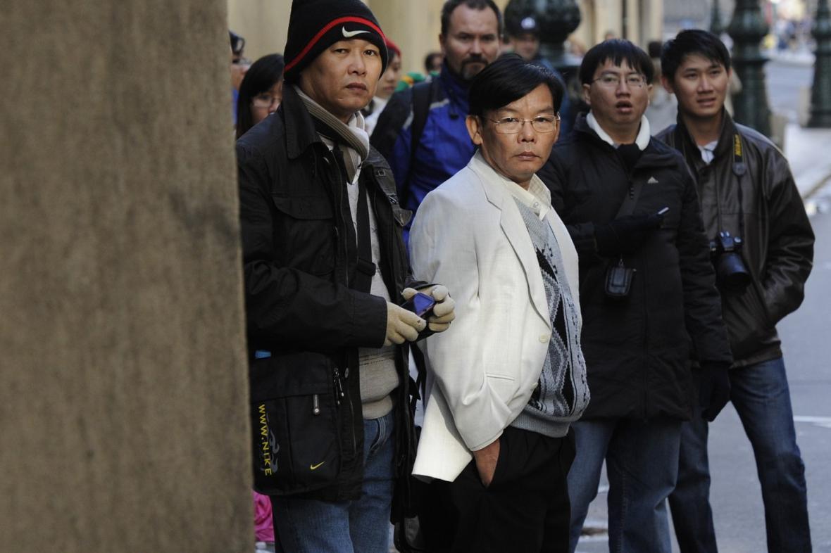 Čínští turisté v Praze