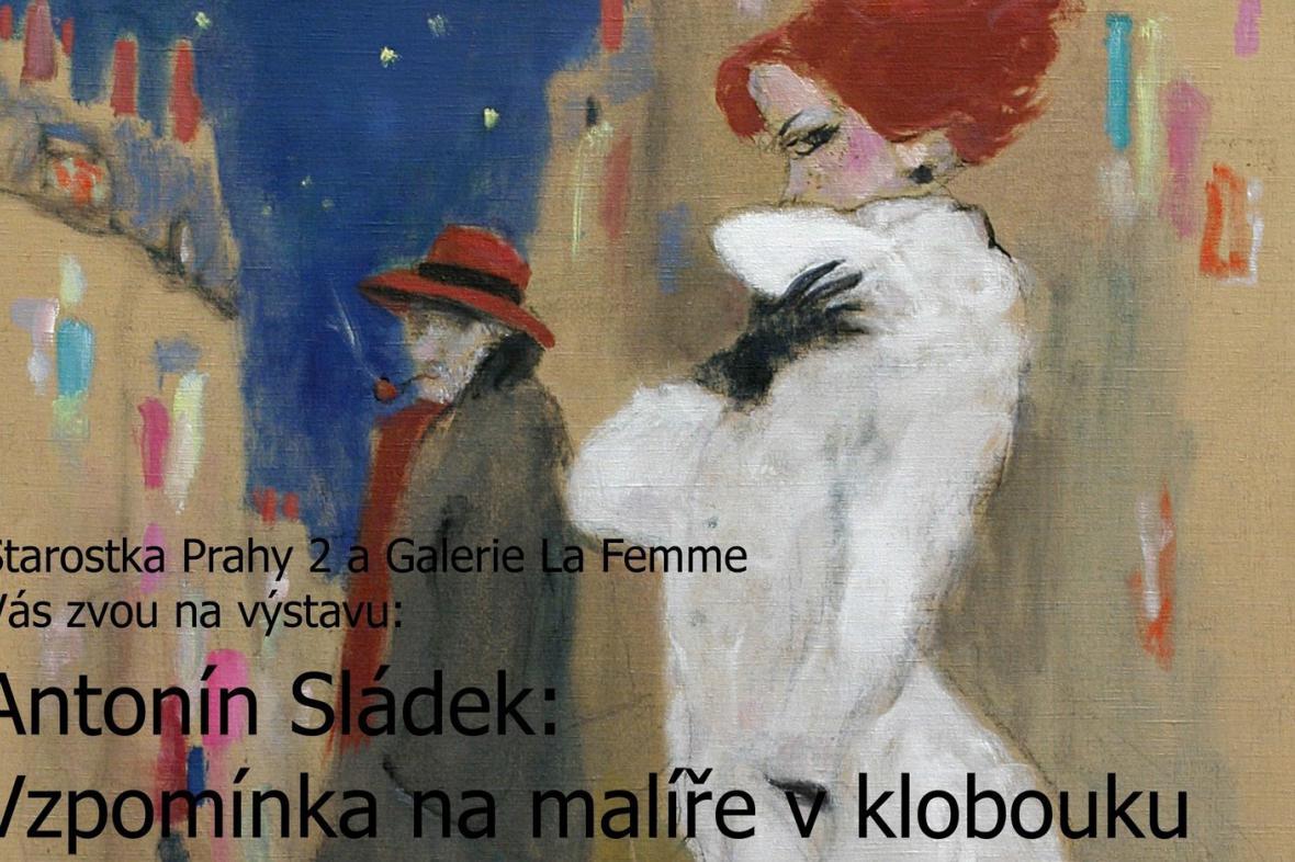 Antonín Sládek / pozvánka (výřez)