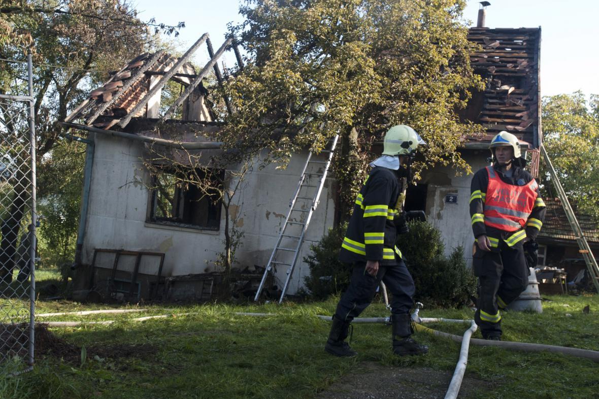 Chata po požáru