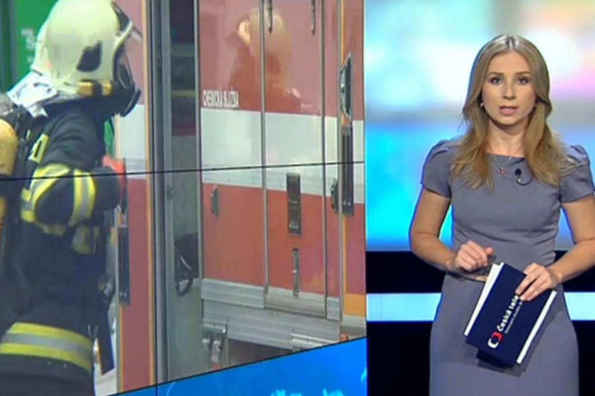 Moderátorka Ivana Šmelová v novém studiu Událostí v regionech