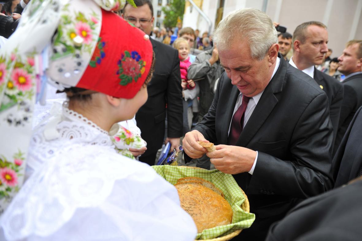 Miloš Zeman na návštěvě Břeclavi
