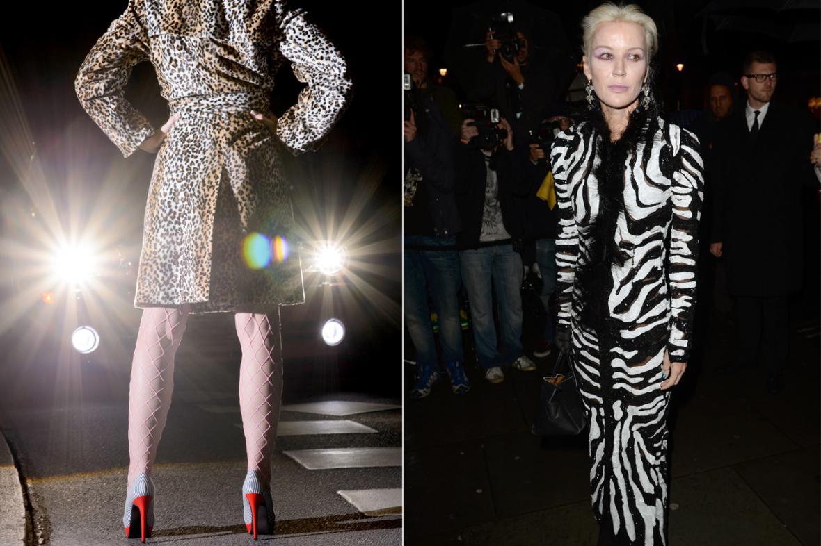 Oblečení s leopardím a zebřím vzorem