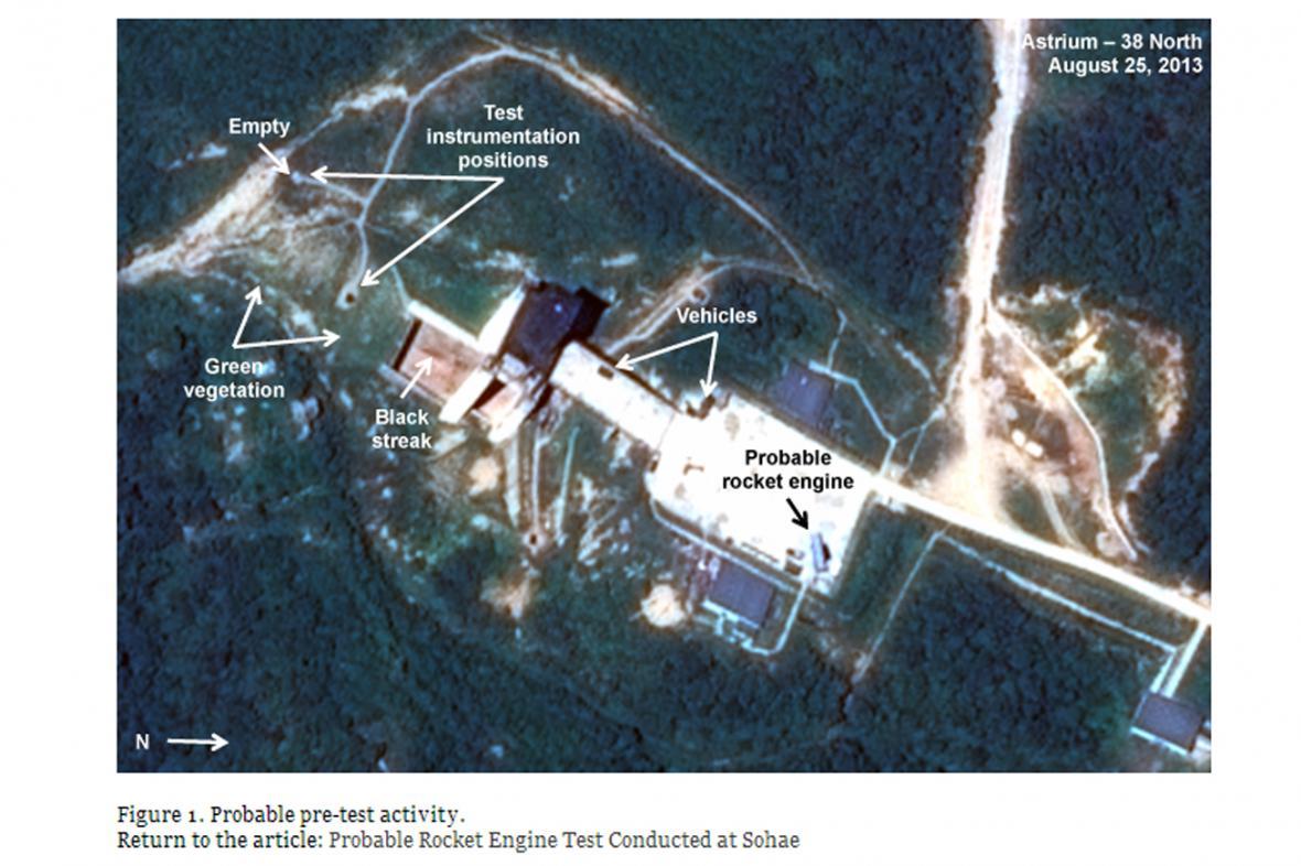 Snímky na blogu 38north zřejmě svědčí o testu raketových motorů
