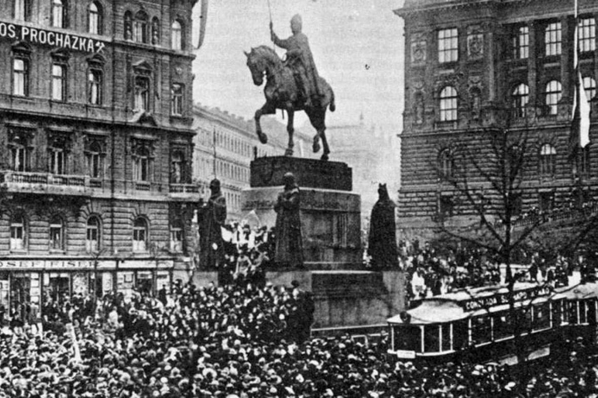 28. říjen 1918 na Václavském náměstí