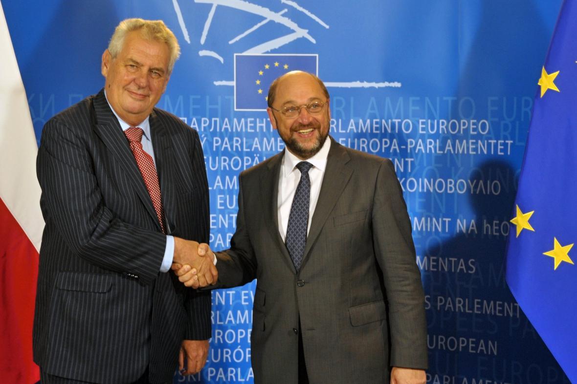 Miloš Zeman s  Martinem Schulzem