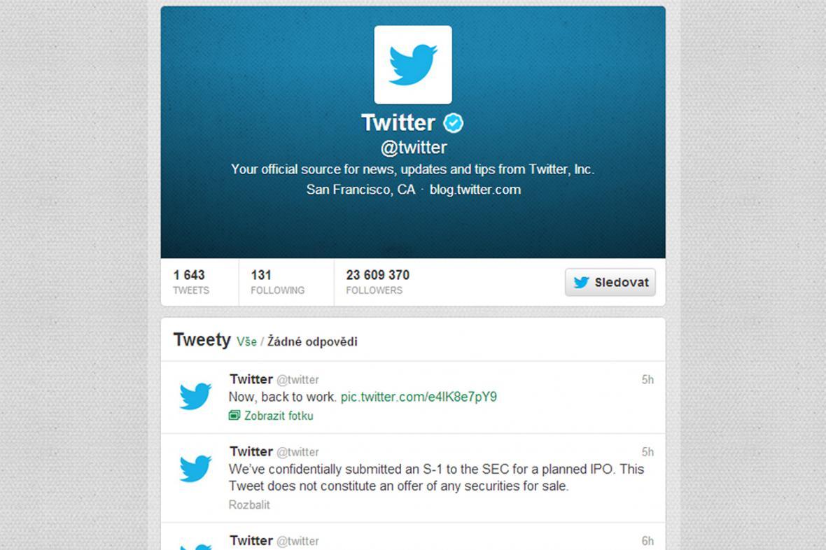 Twitter jde na burzu