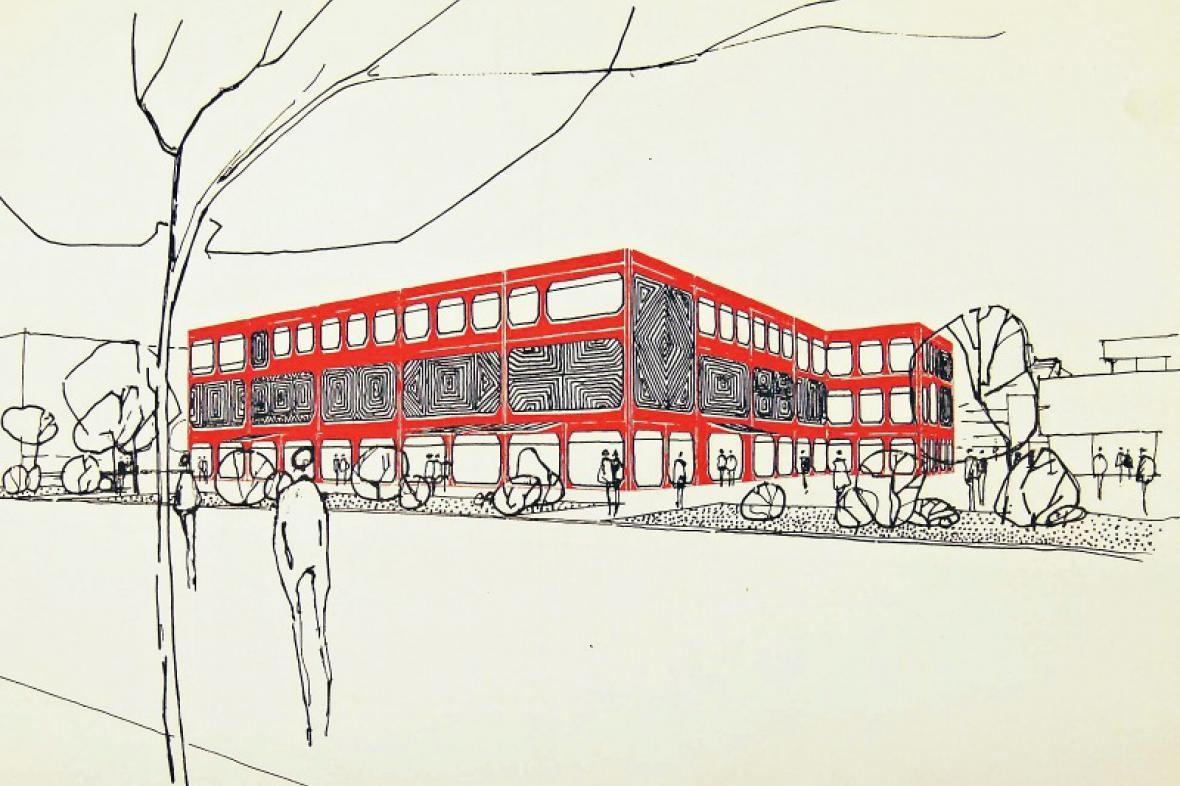 Návrh Růženy Žertové na obchodní dům Prior