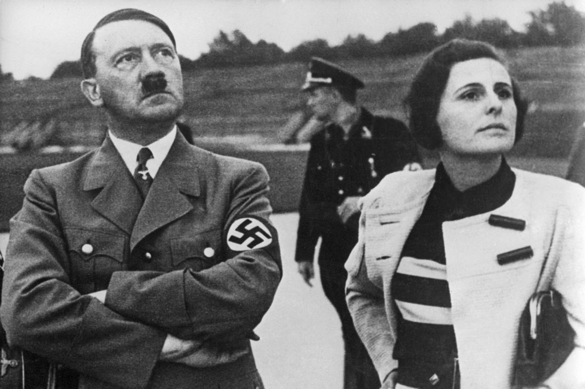 Adolf Hitler a filmová režisérka Leni Riefenstahlová