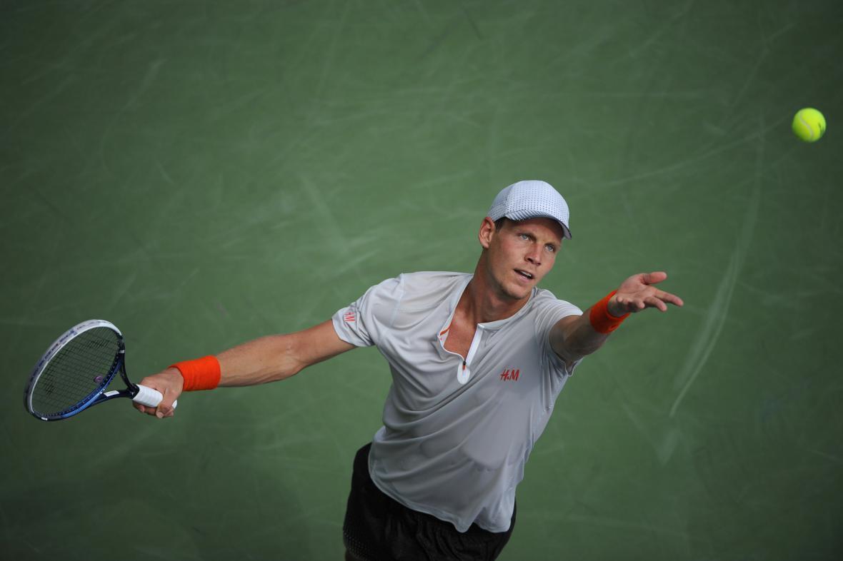 Tomáš Berdych na turnaji US Open