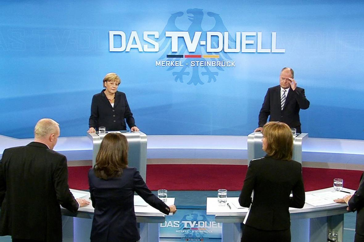Předvolební debata Merkelová - Steinbrück