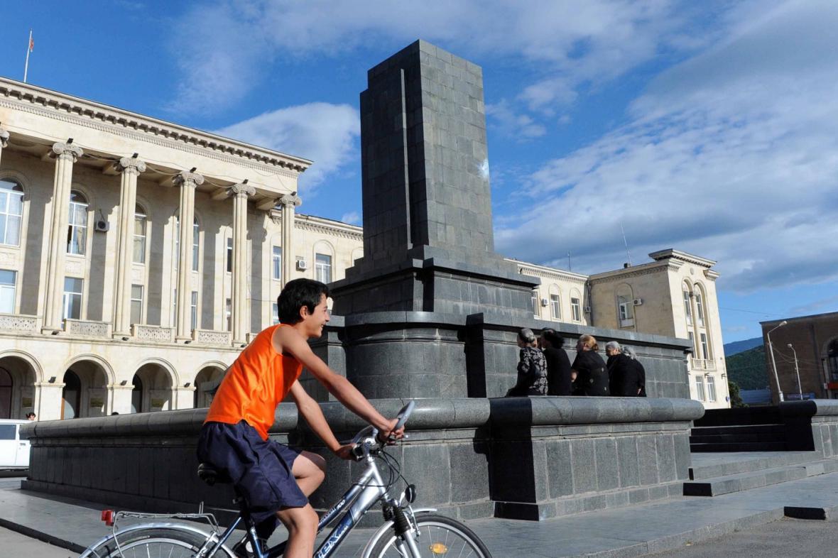 Gruzínské Gori bez Stalinovy sochy