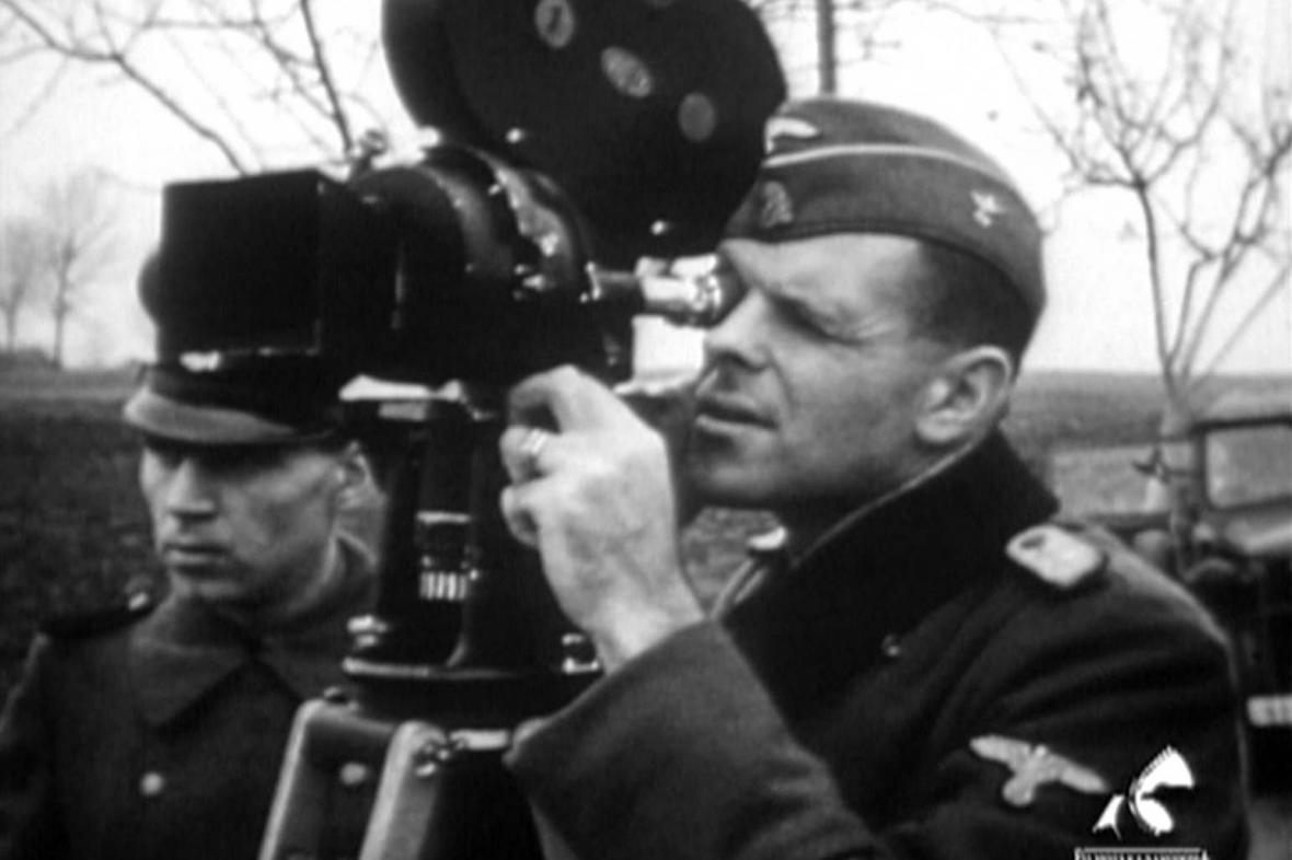Natáčení propagandistického snímku Ghetto Theresienstadt