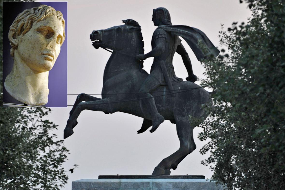 Socha Alexandra Makedonského v Soluni