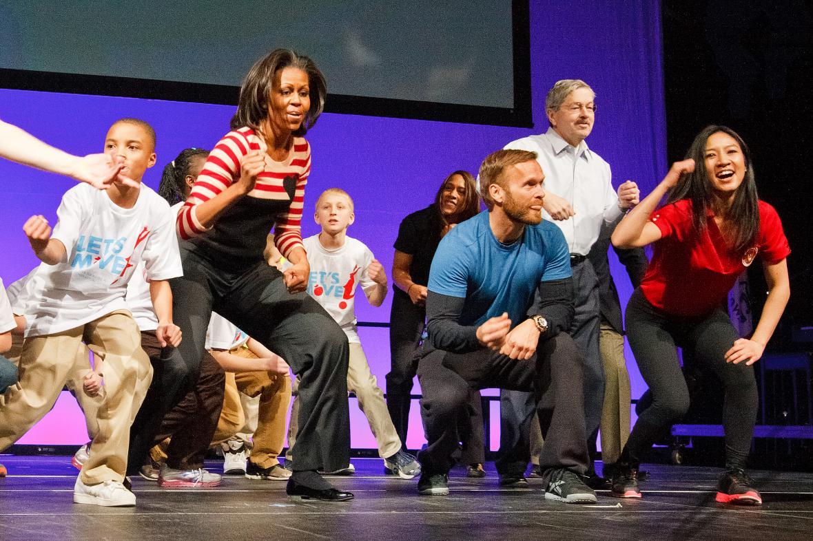 Michelle Obamová podporuje pohyb dětí