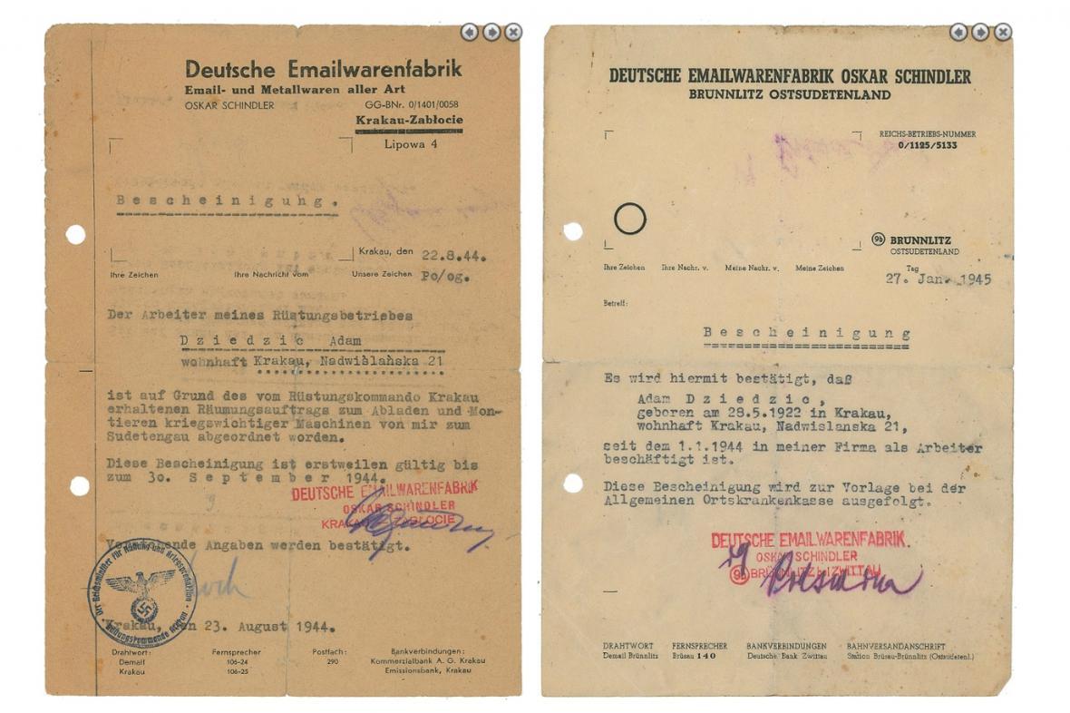 Dražené dopisy Oskara Schindlera
