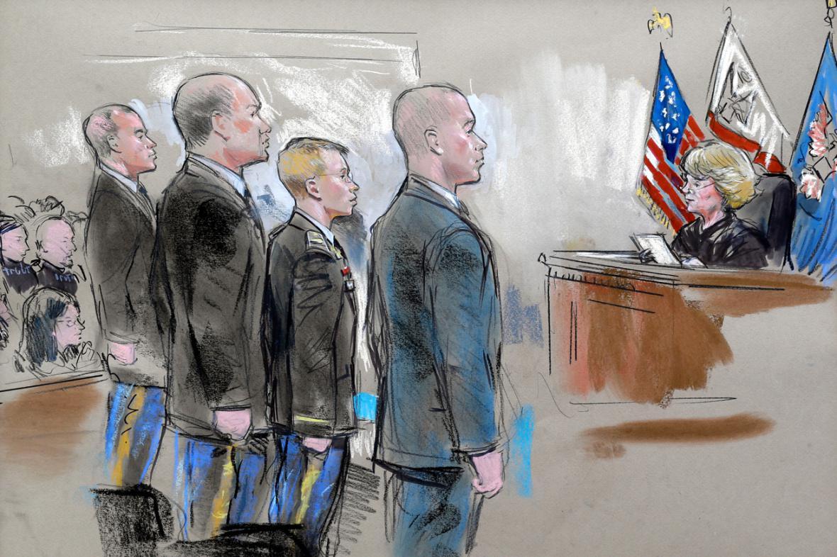 Bradley Manning před soudem