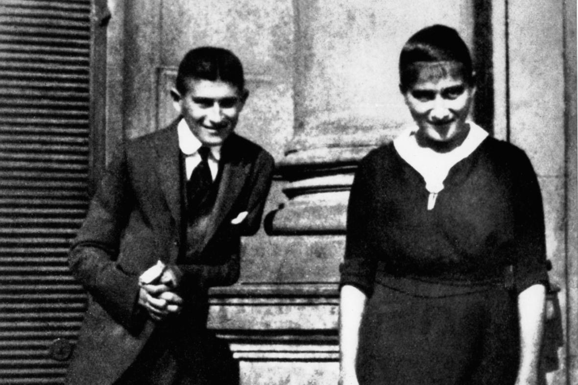 Franz Kafka se svou sestrou Ottlou
