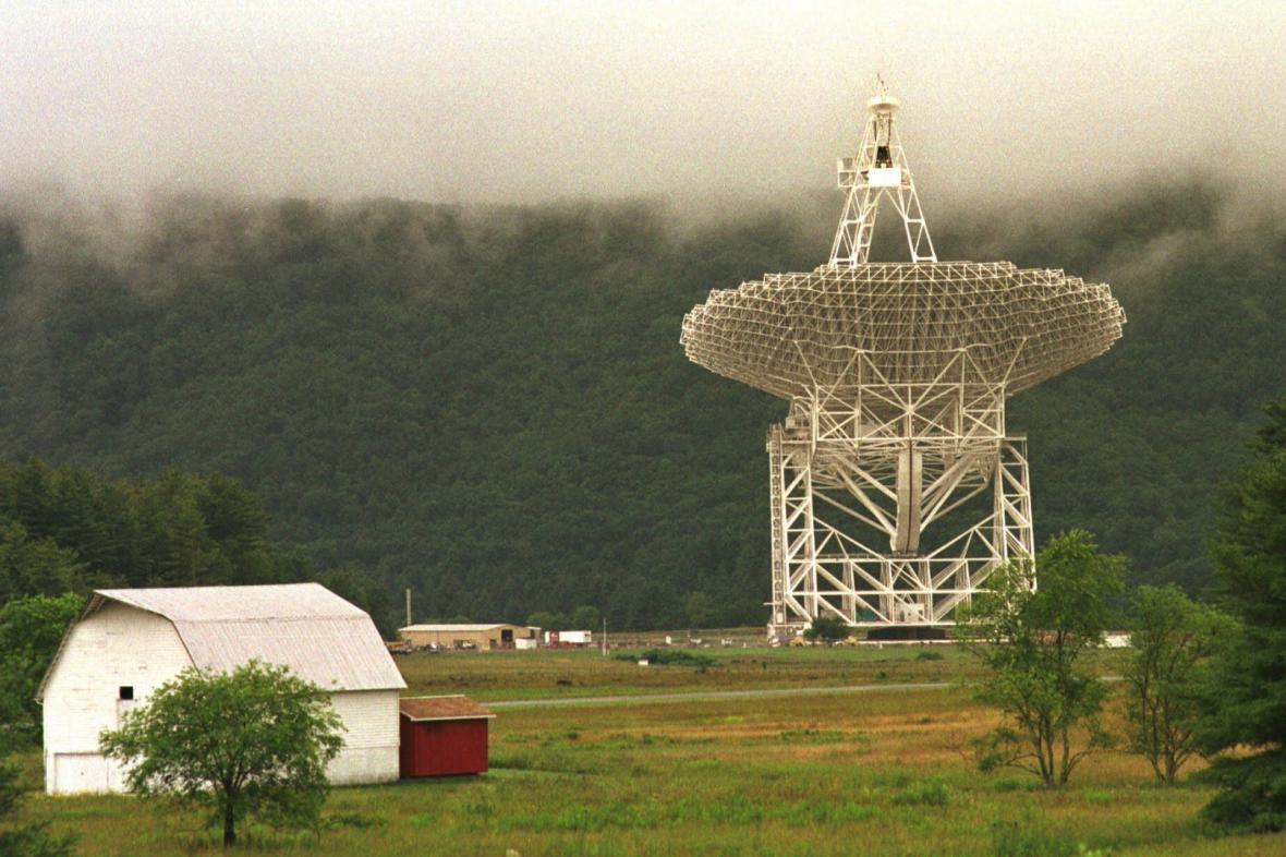 Obří teleskop v Green Bank