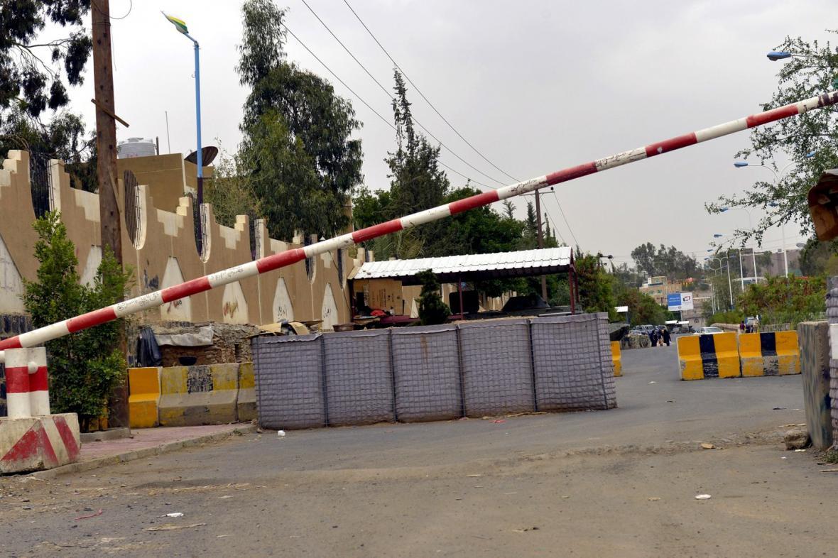 Okolí americké ambasády v Jemenu