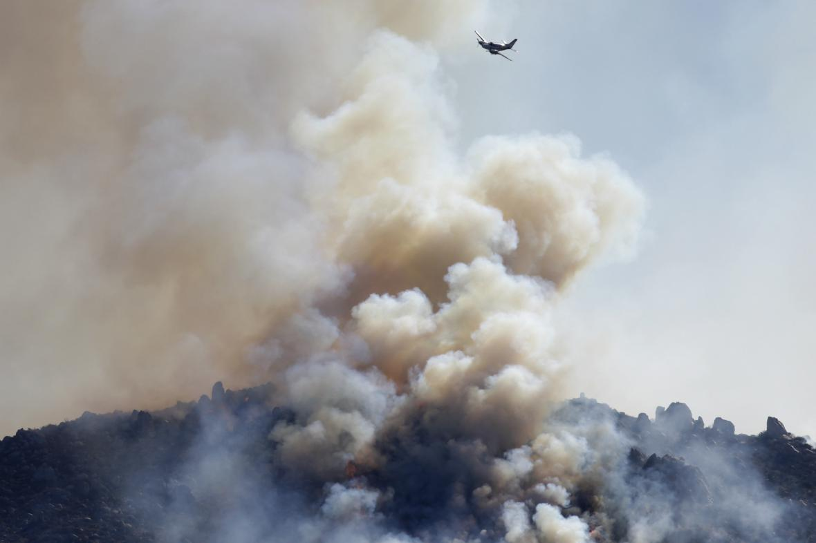 Požár hor v Kalifornii