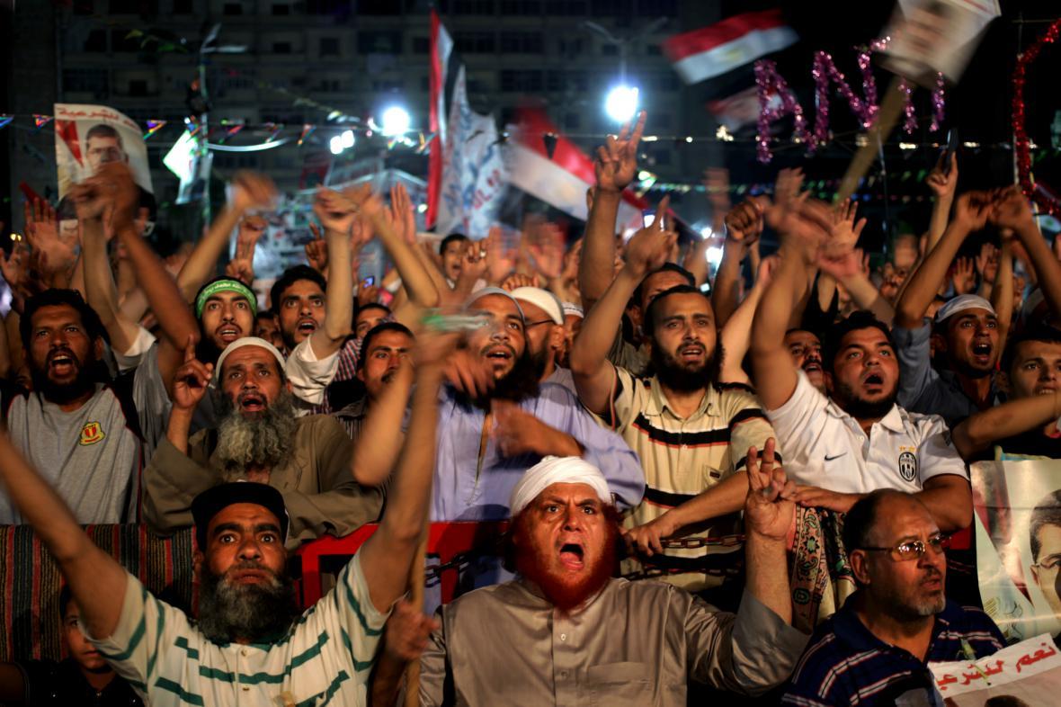 Stoupenci exprezidenta Mursího