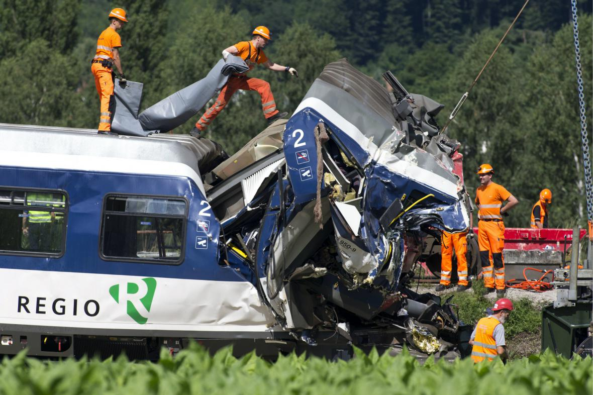 Srážka vlaků ve Švýcarsku
