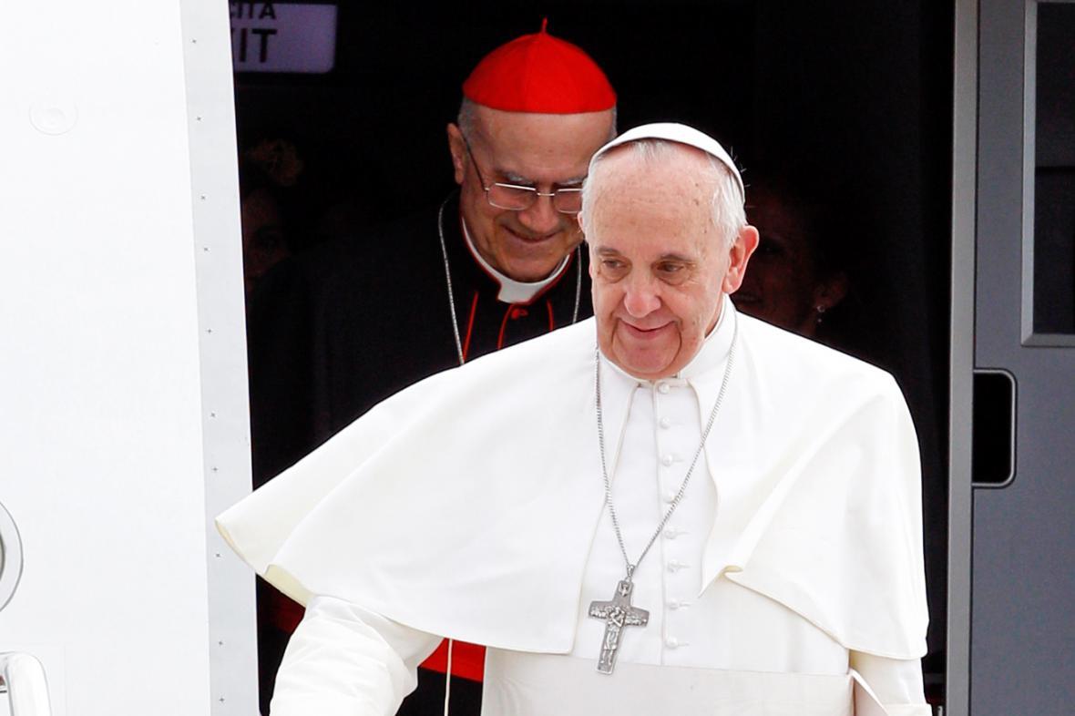 Papež František po návratu z Brazílie do Říma