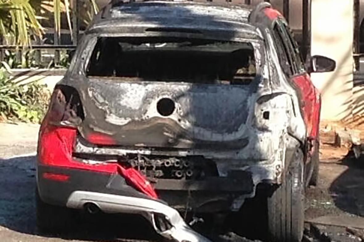 Auto, z něhož se střílelo na Radovana Krejčíře