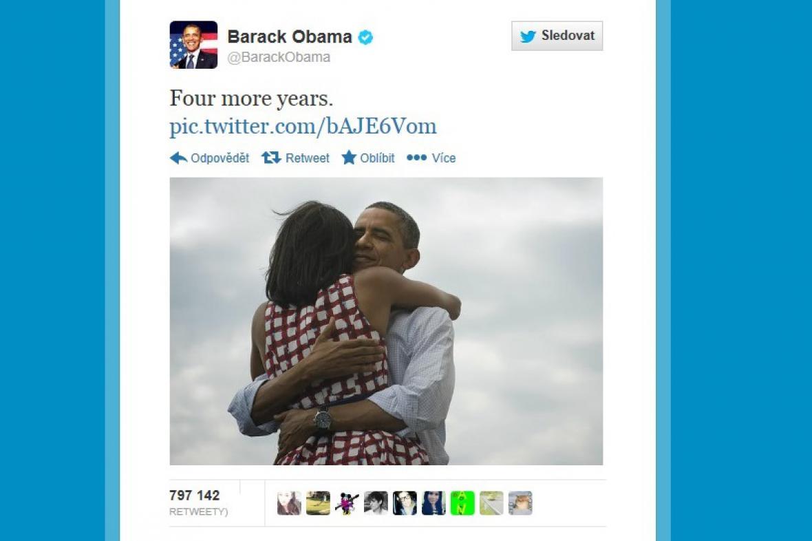 Nejpopulárnější Tweet Baracka Obamy