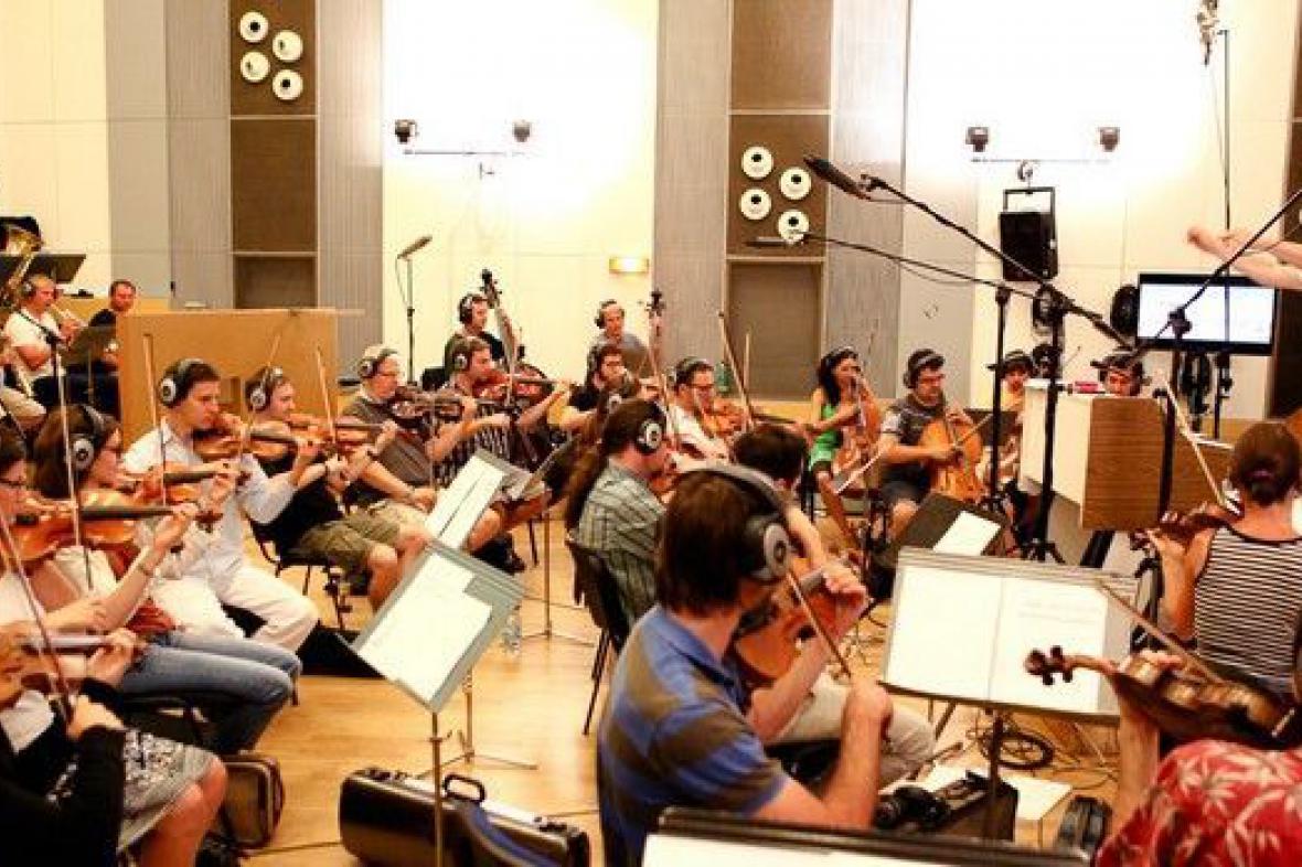 Epoque Orchestra při nahrávání znělek pro kanál ČT :D