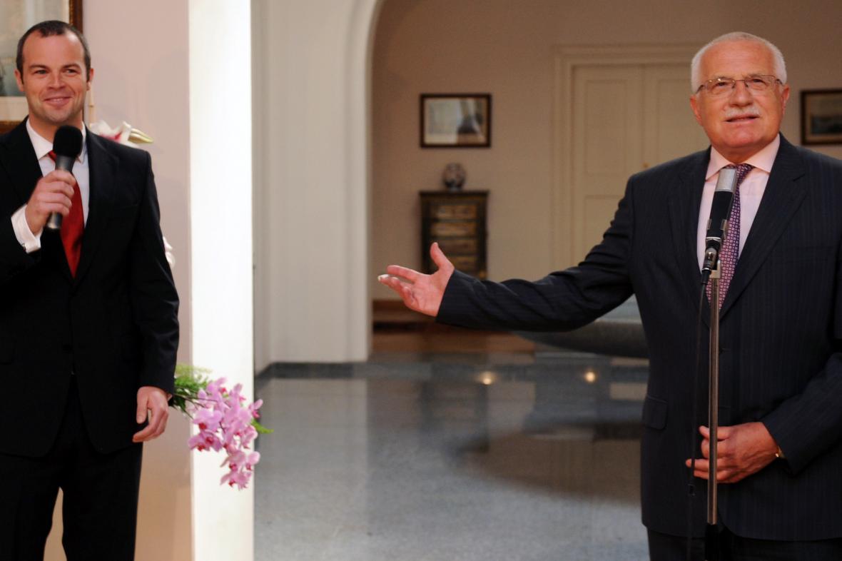 Radim Ochvat a Václav Klaus